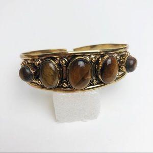 Boho Tiger Eye Bracelet Cuff